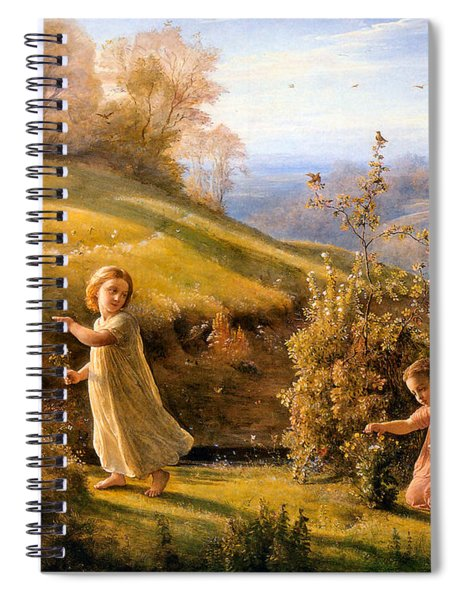 The Poem Of The Soul Spring Anne Francois Louis Janmot 1854. Spiral Notebook