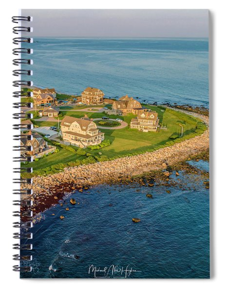 The Point At Weekapaug Spiral Notebook