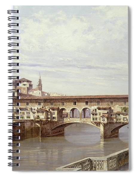 The Pontevecchio - Florence  Spiral Notebook