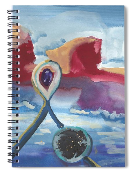 The Porthole And Window Of Fishing Buddies Spiral Notebook