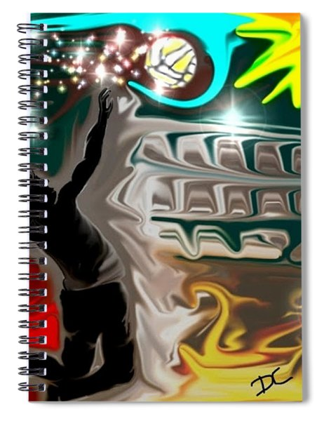 The Power Of Volleyball Spiral Notebook