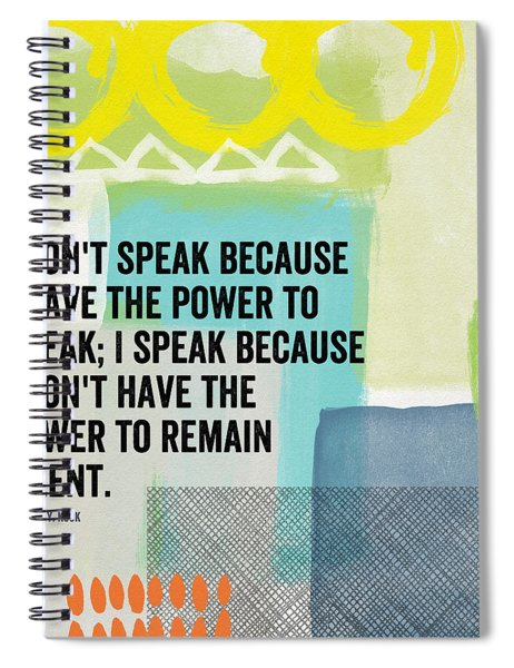 The Power To Speak- Contemporary Jewish Art By Linda Woods Spiral Notebook