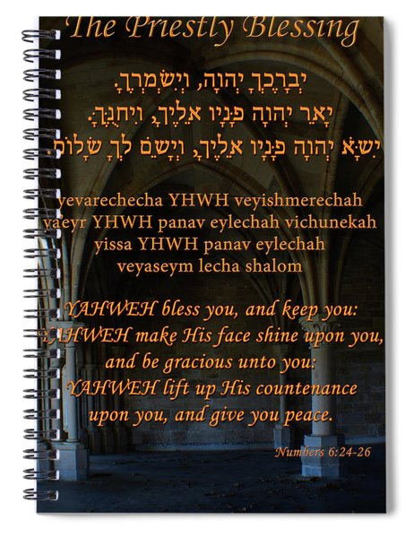 The Priestly Aaronic Blessing Spiral Notebook