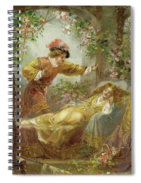 The Prince Finds The Sleeping Beauty Spiral Notebook