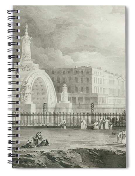 The Proposed Triumphal Arch From Portland Place To Regent's Park, 1820  Spiral Notebook