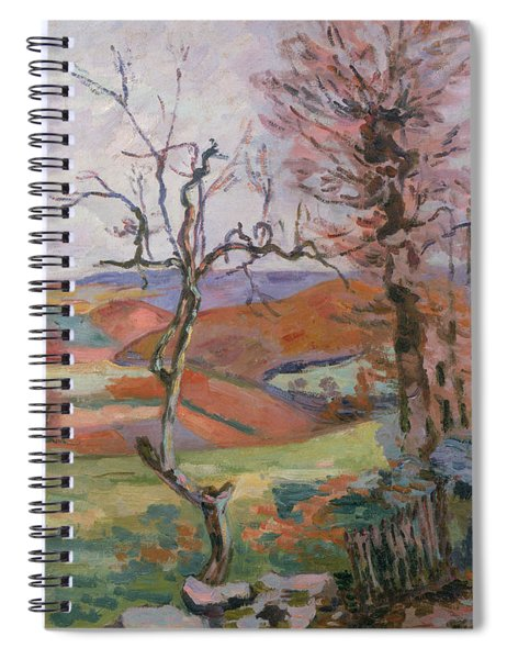 The Puy Barion At Crozant Spiral Notebook