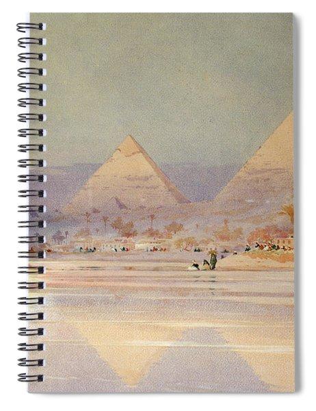 The Pyramids At Dusk Spiral Notebook
