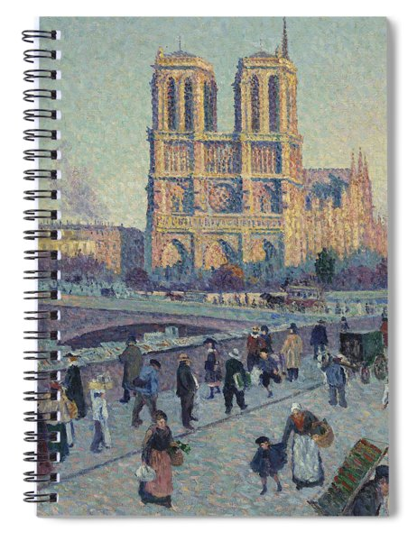 The Quai Saint-michel And Notre-dame Spiral Notebook