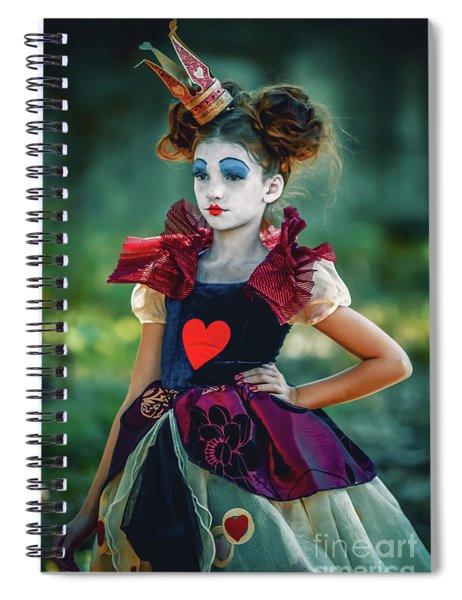 The Queen Of Hearts Alice In Wonderland Spiral Notebook
