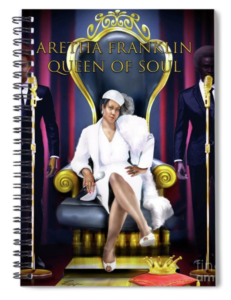 The Queen Of Soul Spiral Notebook