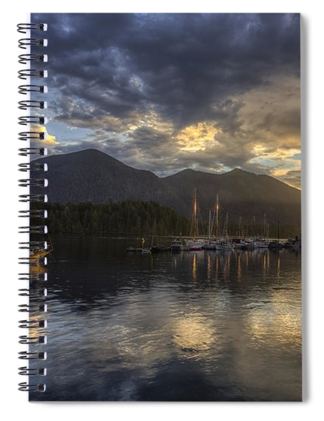 The Quiet Sunrise - Tofino Bc Spiral Notebook