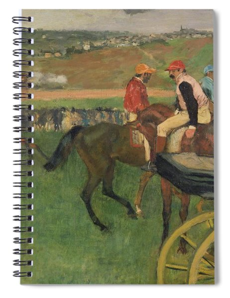 The Race Course Spiral Notebook by Edgar Degas