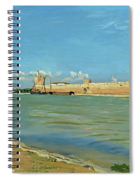 The Ramparts At Aigues Mortes Spiral Notebook