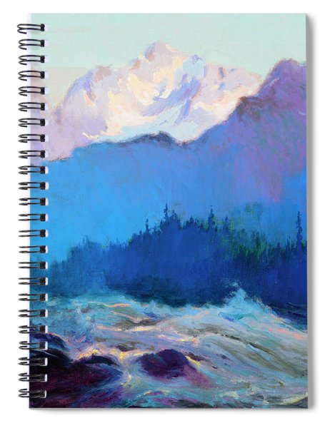 The Rapids Of The Tokositna River Spiral Notebook