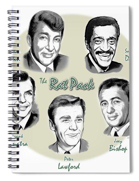 The Rat Pack Spiral Notebook by Greg Joens