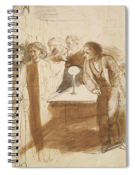 The Raven - Angel Footfalls Spiral Notebook