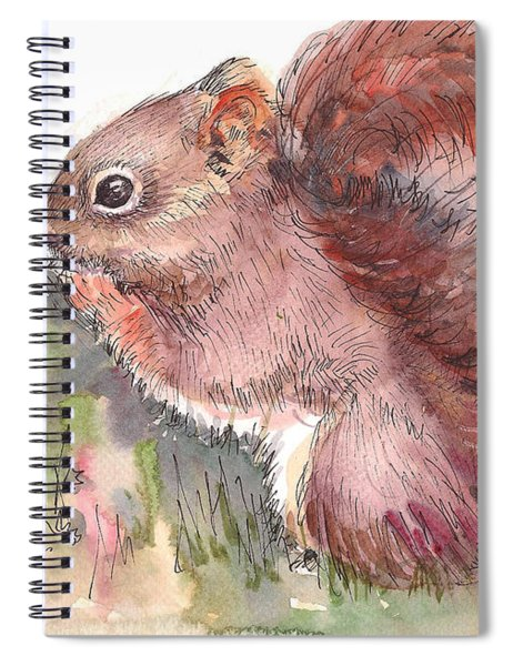 The Red Squirrel Spiral Notebook