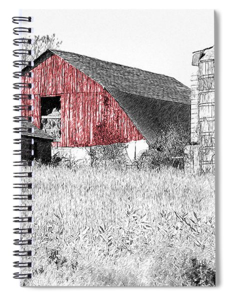 The Red Barn - Sketch 0004 Spiral Notebook