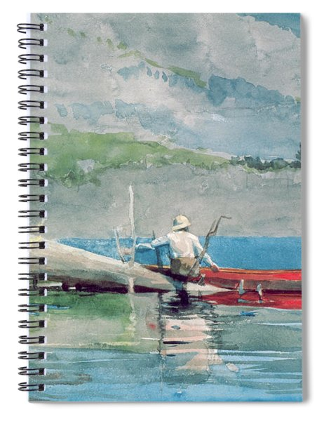 The Red Canoe Spiral Notebook