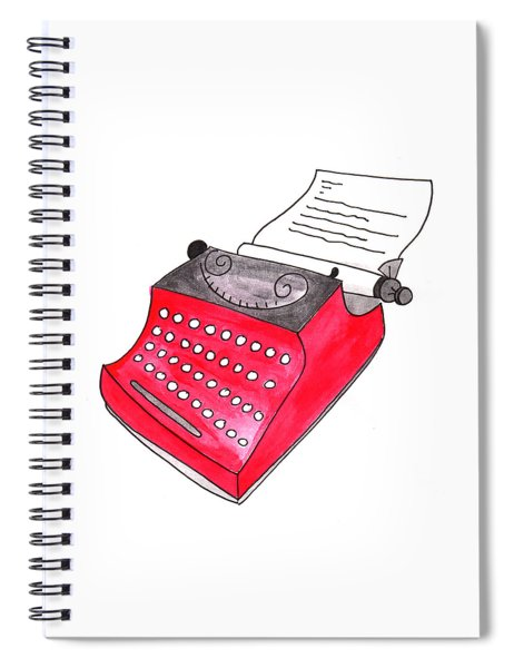 The Red Typewriter Spiral Notebook