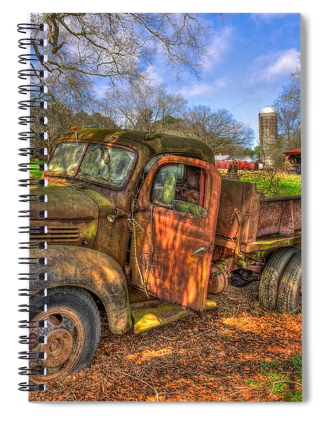 The Resting Place 1947 Dodge Dump Truck Georgia Farm Art Spiral Notebook