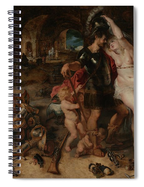 The Return From War- Mars Disarmed By Venus  Spiral Notebook