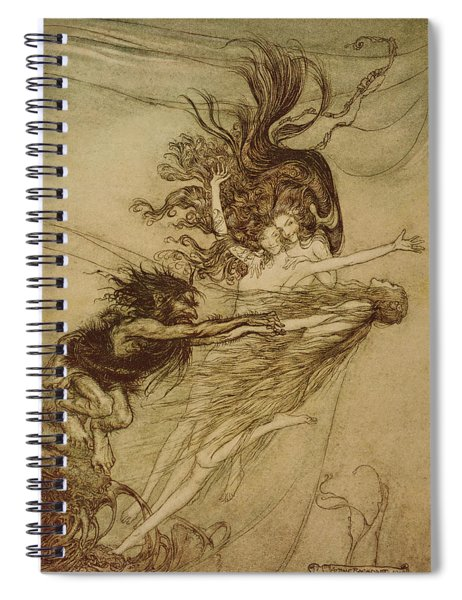 The Rhinemaidens Teasing Alberich Spiral Notebook