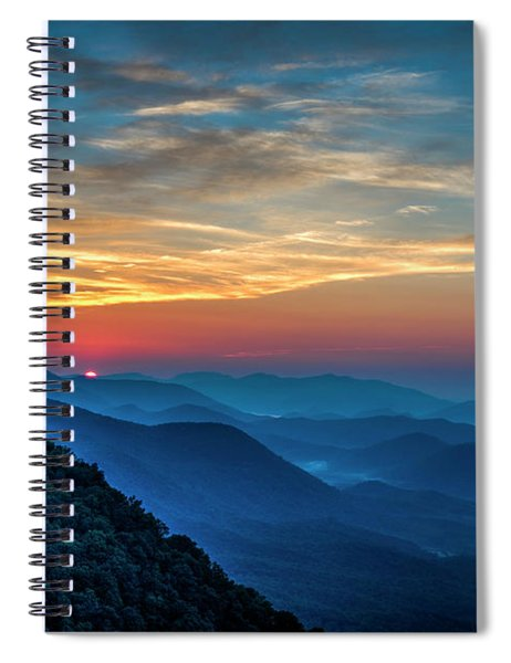 The Rising Sun Pretty Place Chapel Greenville S C Great Smoky Mountain Art Spiral Notebook