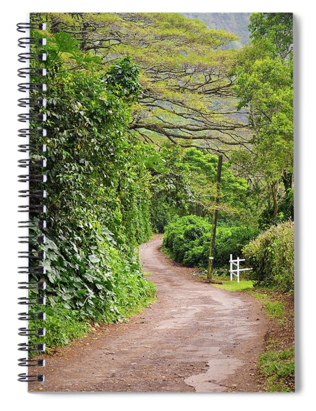 The Road Less Traveled-waipio Valley Hawaii Spiral Notebook