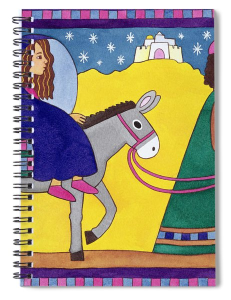 The Road To Bethlehem Spiral Notebook by Cathy Baxter