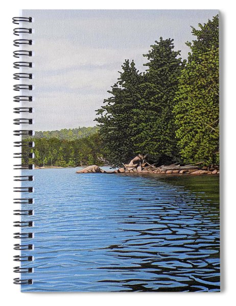 The Rock At Goldstein's Moose Lake Spiral Notebook