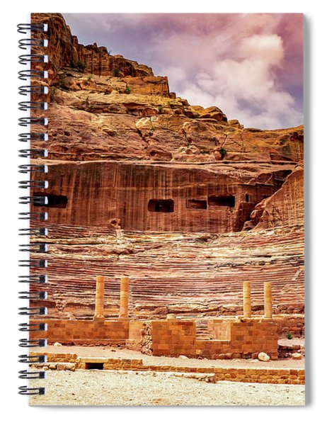 The Roman Theater At Petra Spiral Notebook