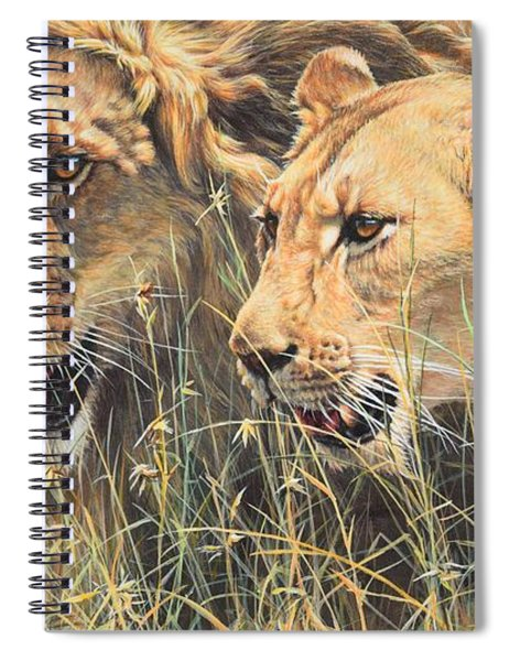 Spiral Notebook featuring the painting The Royal Couple II by Alan M Hunt