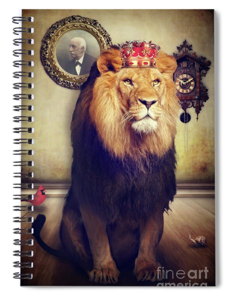 The Royal Lion Spiral Notebook