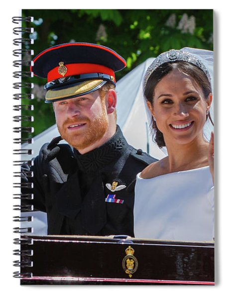The Royal Wedding Of Prince Harry  To Meghan  Spiral Notebook