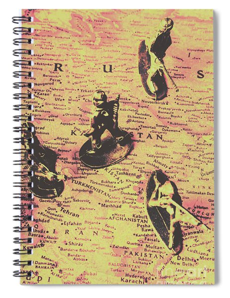 The Russian Lines Spiral Notebook