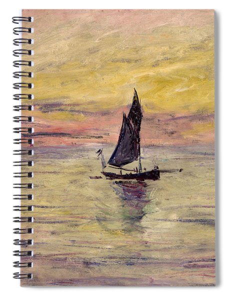 The Sailing Boat Evening Effect Spiral Notebook