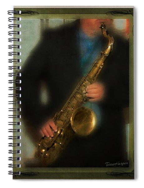 The Sax Player Spiral Notebook