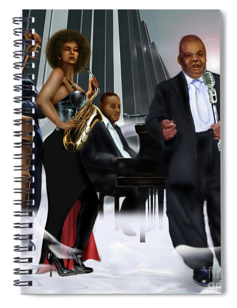 The Saxophone And The Lady Spiral Notebook