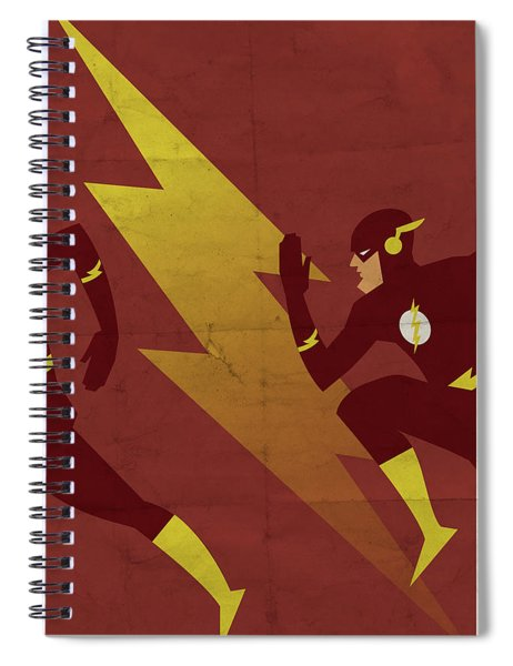 The Scarlet Speedster Spiral Notebook by Michael Myers