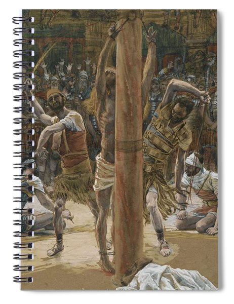 The Scourging On The Back Spiral Notebook