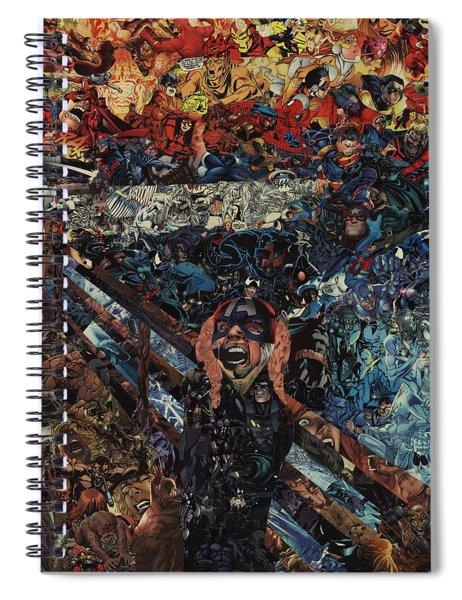 The Scream After Edvard Munch Spiral Notebook