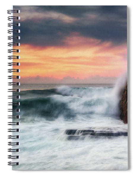 The Sea Against The Rock Spiral Notebook