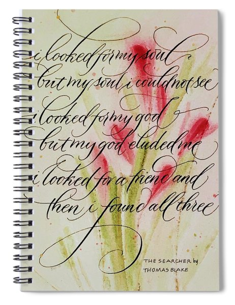 The Searcher By Thomas Blake Spiral Notebook