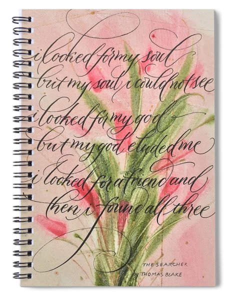 The Searcher II By Thomas Blake Spiral Notebook