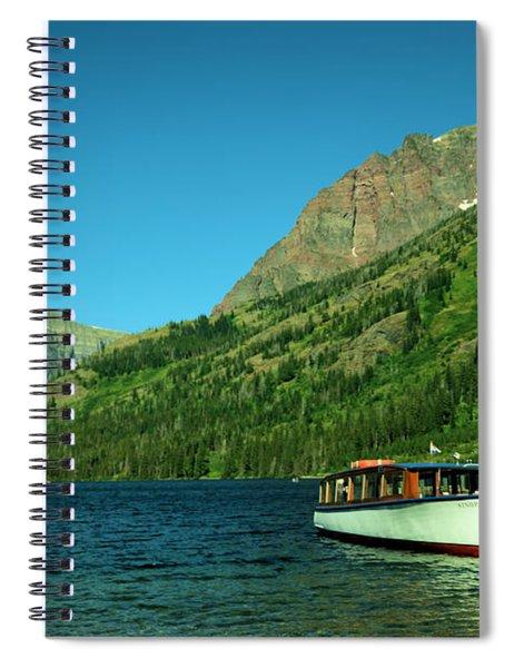 The Senopah Two Medicine Lake Glacier National Park Spiral Notebook