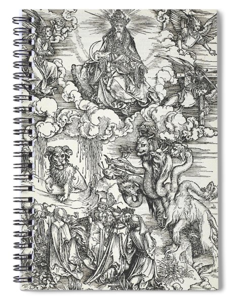 The Seven-headed Beast And The Beast With Lamb's Horns Spiral Notebook