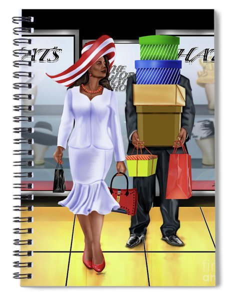 The Shopping Spree In Style Spiral Notebook