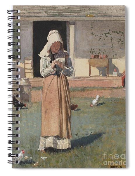 The Sick Chicken, 1874  Spiral Notebook
