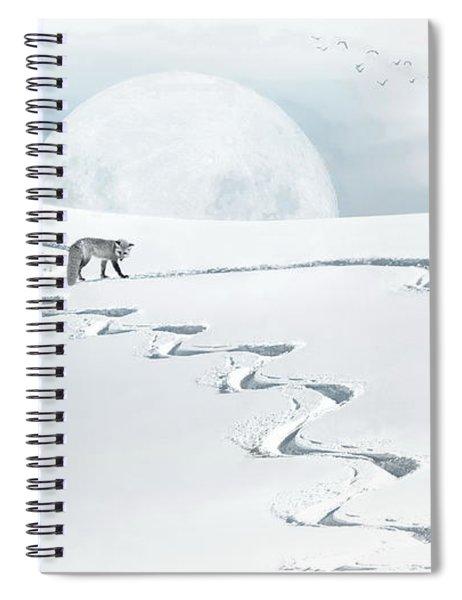 The Silver Fox Spiral Notebook
